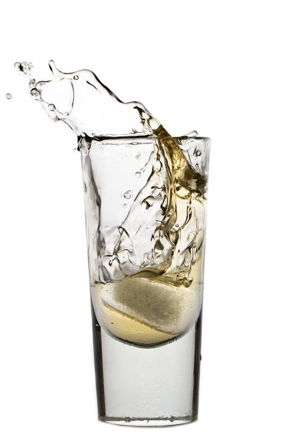 飞溅威士忌酒 库存照片