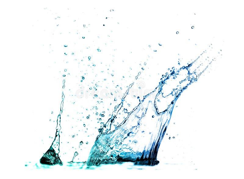 飞溅水的查出的射击 免版税库存图片