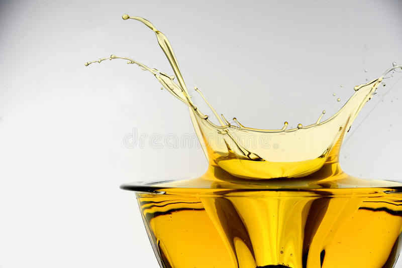 飞溅烹调用油 免版税库存图片