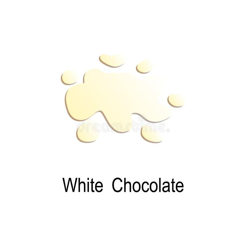 飞溅白色巧克力象 色的飞溅例证的元素 优质质量图形设计象 标志和标志c 向量例证