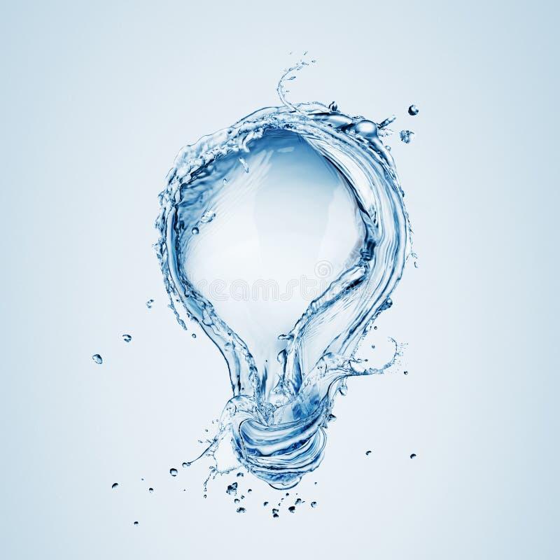 从水飞溅的电灯泡 免版税库存照片