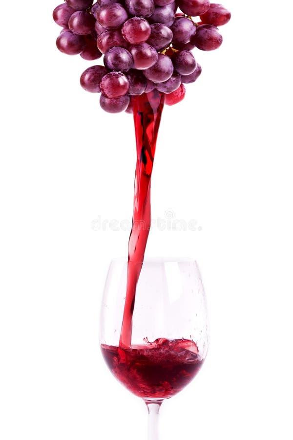 飞溅红葡萄酒 免版税库存图片