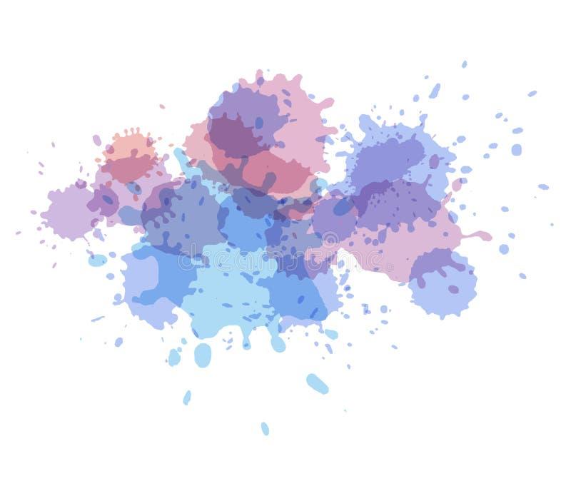飞溅水彩 绘传染媒介splat 向量例证