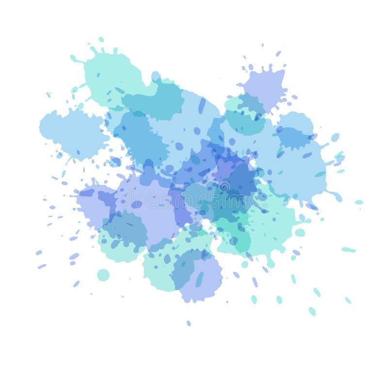 飞溅水彩 绘传染媒介splat 皇族释放例证