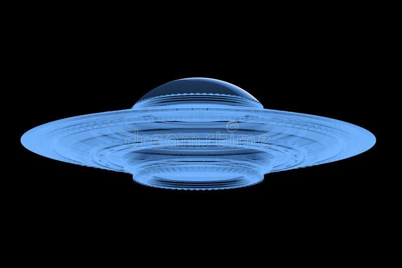 飞碟或外籍人太空飞船 皇族释放例证