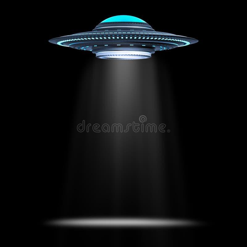 飞碟或外籍人太空飞船 库存例证
