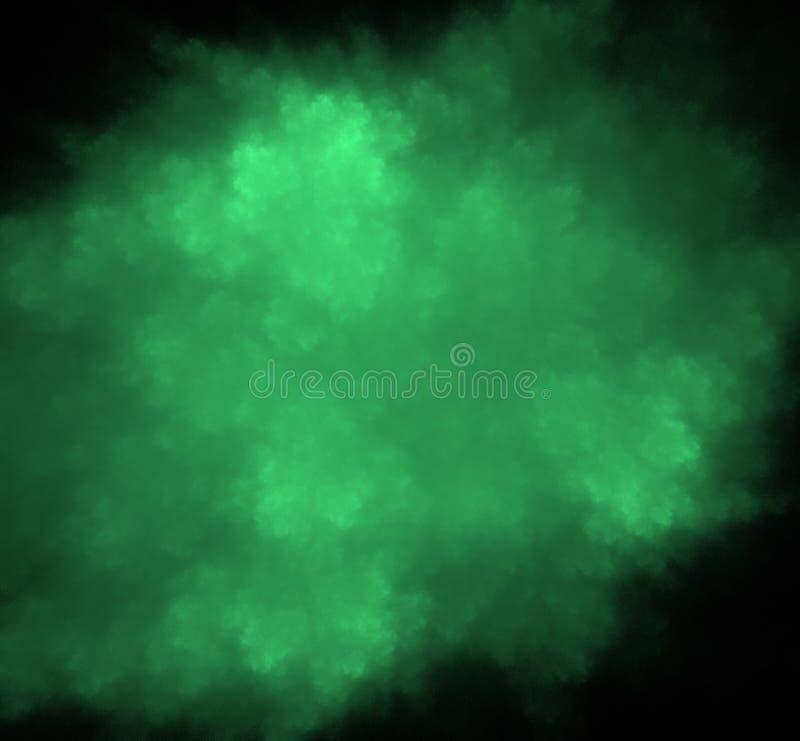 飞碟绿色被弄脏的分数维背景 幻想分数维纹理 abstact艺术深深数字式红色转动 3d翻译 计算机生成的图象 皇族释放例证
