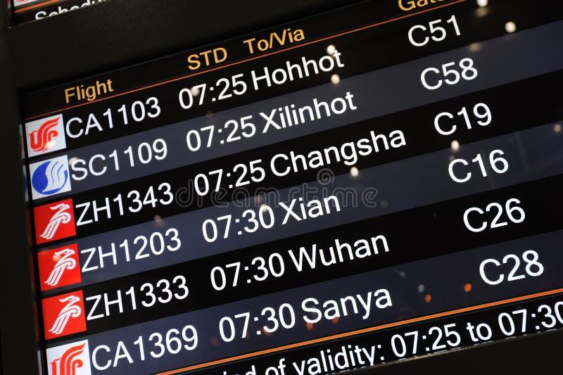 飞行信息面板 免版税库存图片