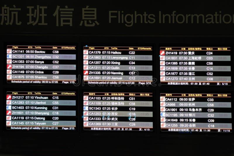 飞行信息面板 库存照片