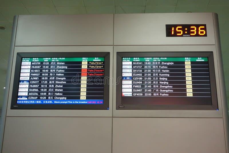 飞行信息面板 免版税库存照片