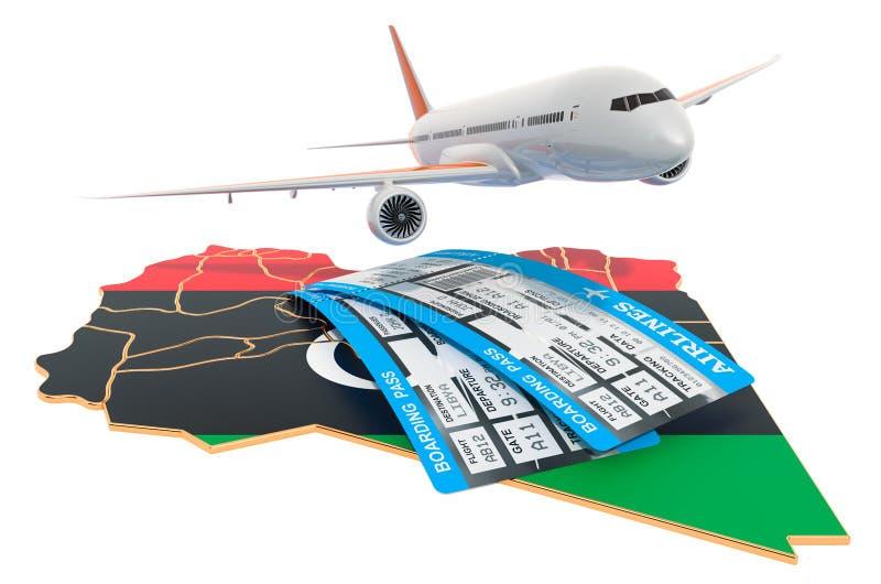 飞行到利比亚概念 3d?? 向量例证