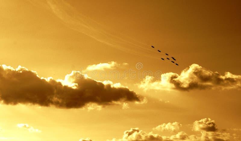 飞行同步的小组vi 免版税库存照片