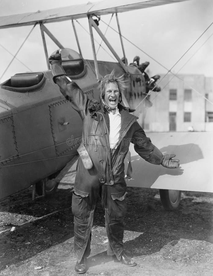 飞行员发狂(所有人被描述不更长生存,并且庄园不存在 供应商保单将没有方式 免版税库存图片