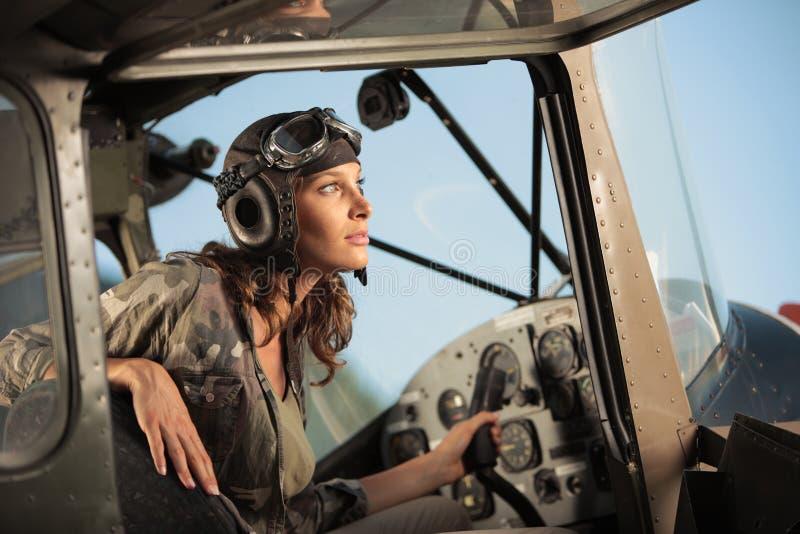 飞行员女性 库存照片