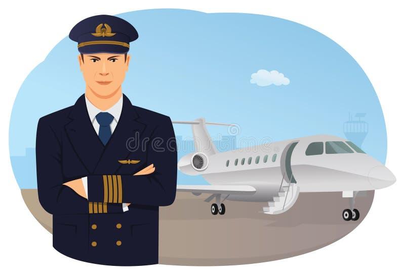 飞行员 向量例证
