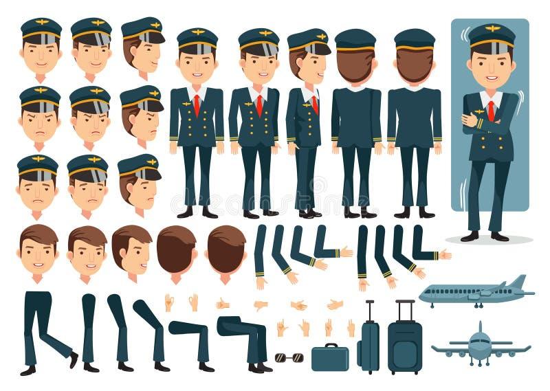 飞行员 库存例证