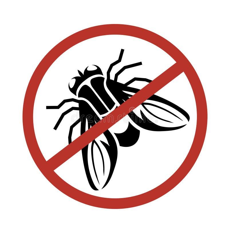 飞行商标,停止飞行,虫害,飞行手拉的剪影  皇族释放例证