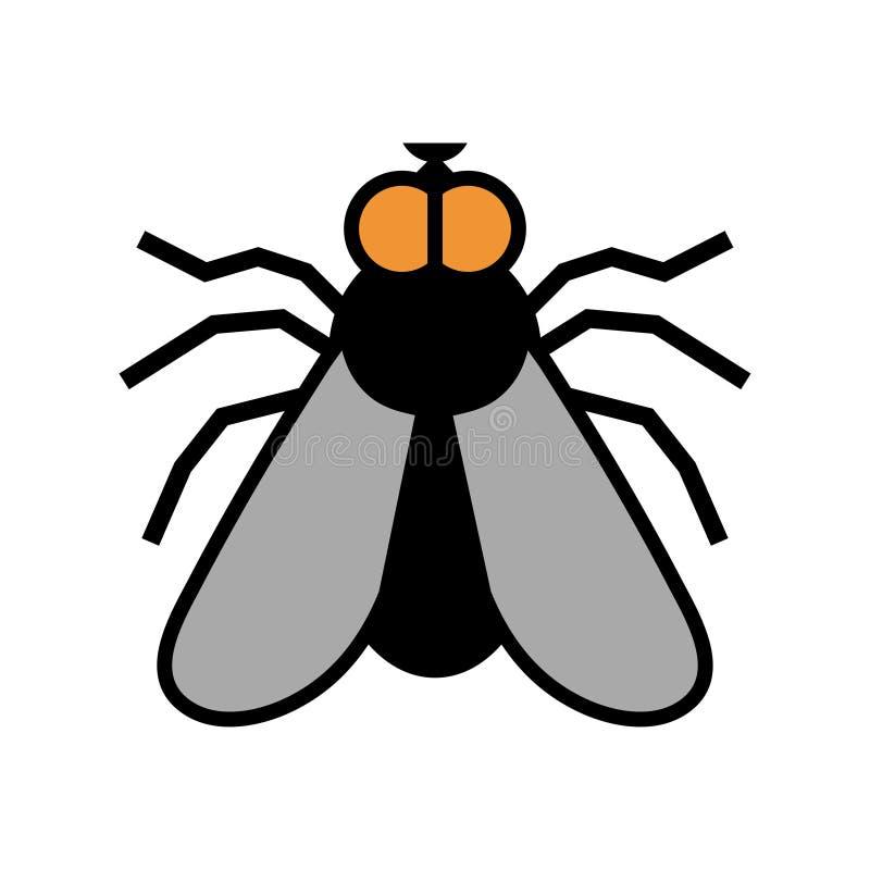 飞行商标,停止飞行,虫害,飞行手拉的剪影  向量例证