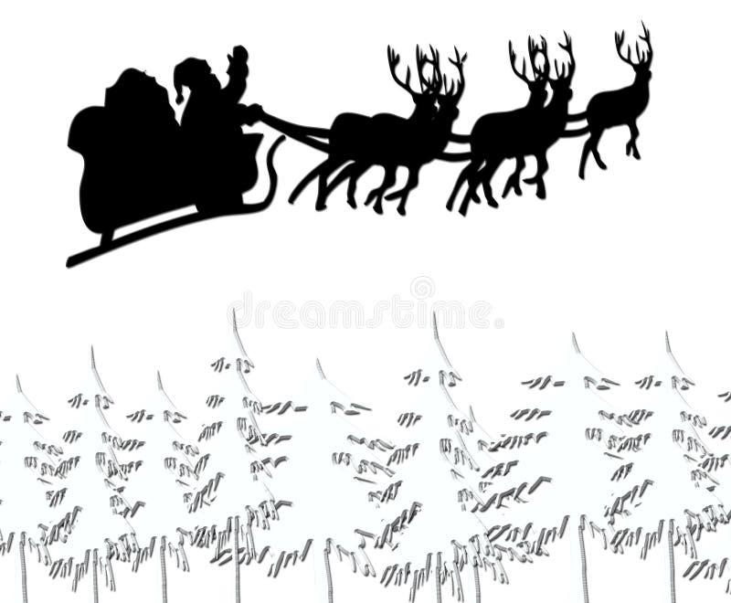 飞行圣诞老人 库存例证