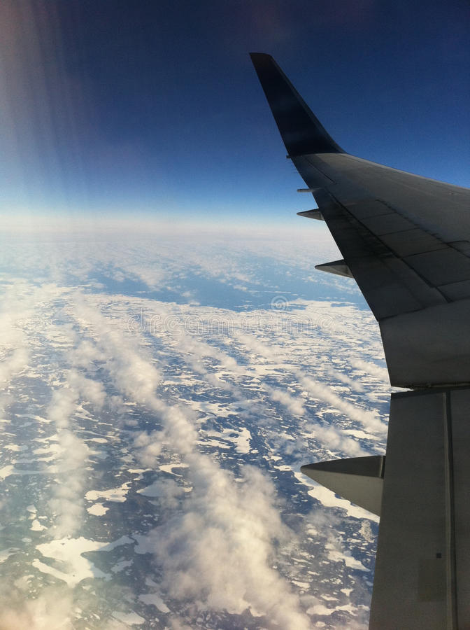 飞行在东加拿大 库存照片