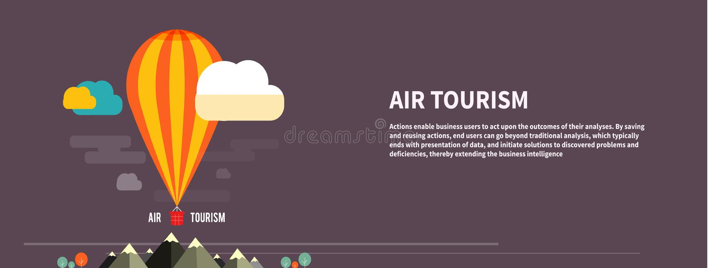 飞行在山的热空气气球 库存例证