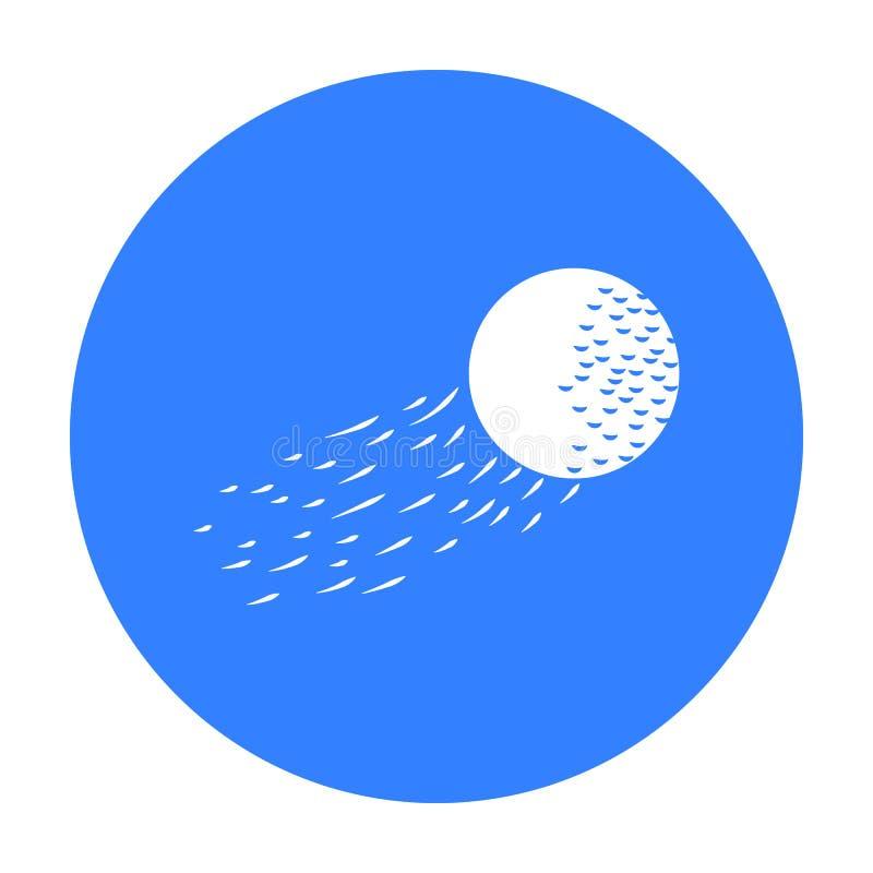 飞行在白色背景在黑样式的高尔夫球象隔绝的 高尔夫俱乐部标志股票传染媒介例证 向量例证
