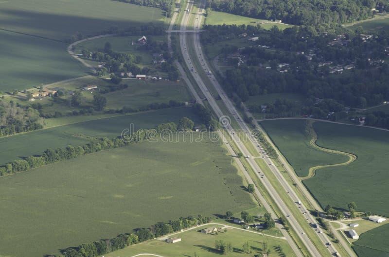 飞行在高速公路 库存照片