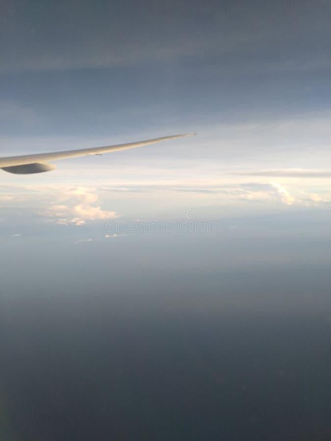 飞行天空的✈ 免版税库存照片