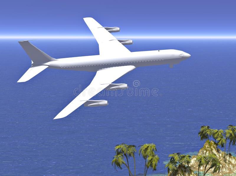 飞行对假期的喷气机 库存例证