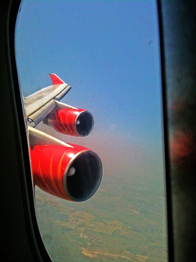 飞行引擎 免版税库存照片