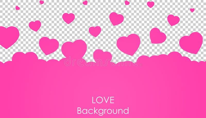 飞行心脏背景 爱传染媒介例证 夫妇日例证爱恋的华伦泰向量 库存例证