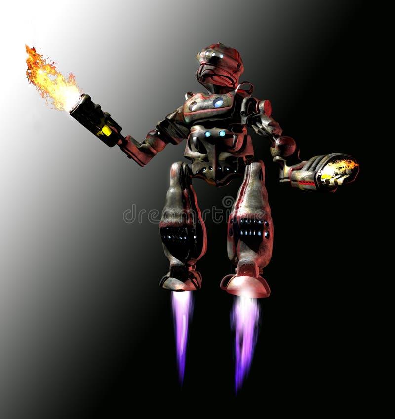 飞行机器人 皇族释放例证