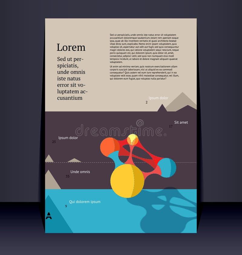 飞行物传单小册子布局。编辑可能的设计模板 皇族释放例证