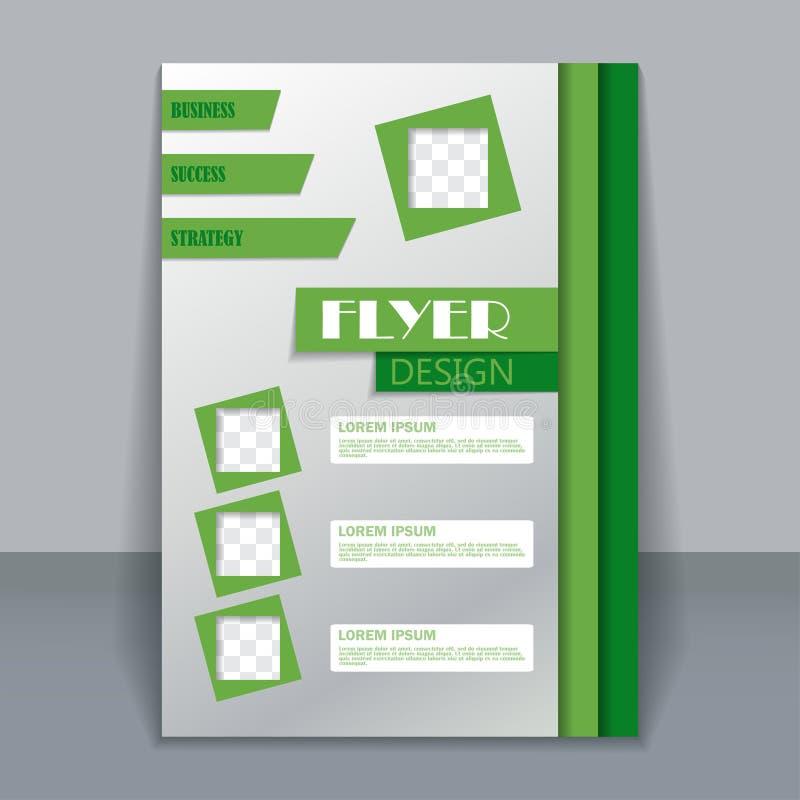 飞行物模板,设计的企业小册子 皇族释放例证