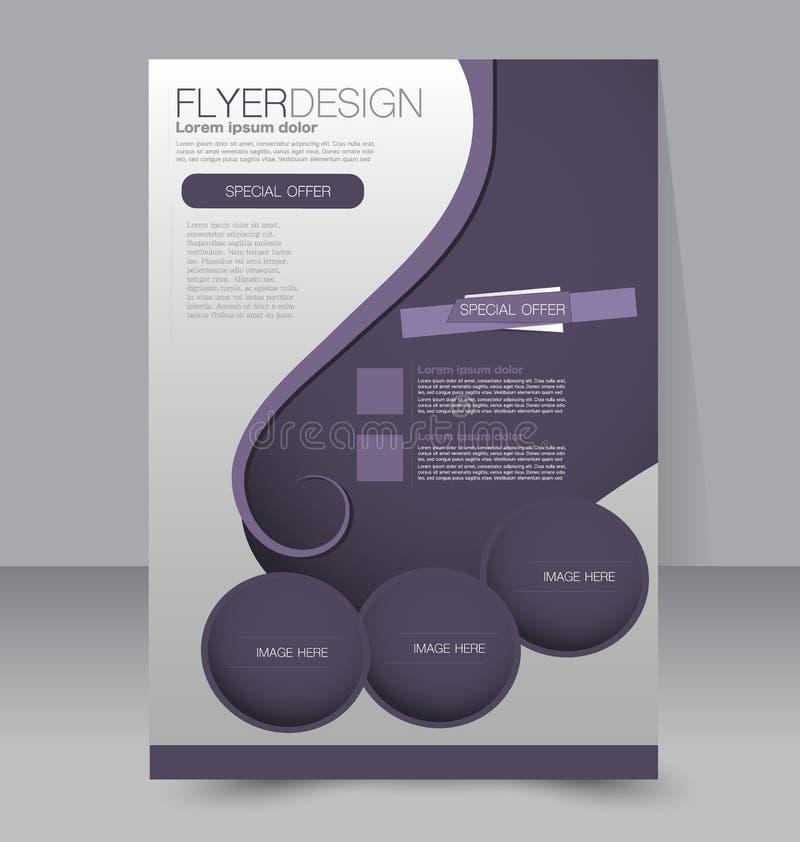 飞行物模板 企业小册子 编辑可能的A4海报 向量例证