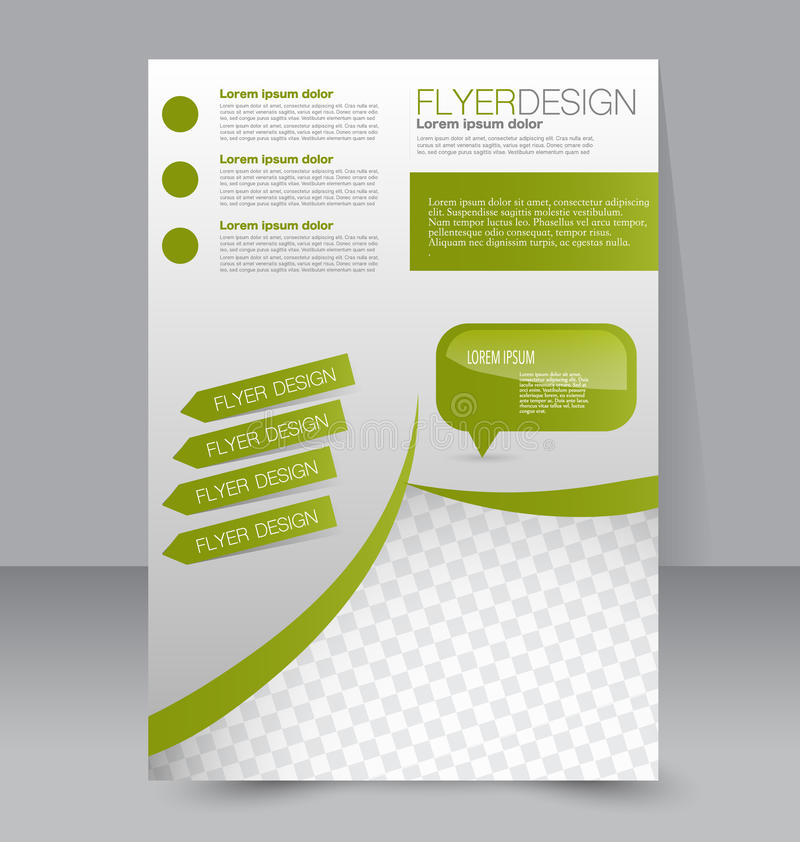 飞行物模板 企业小册子 编辑可能的A4海报 库存例证