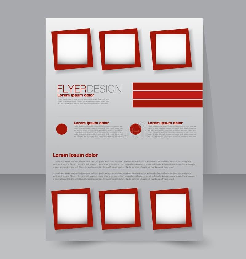 飞行物模板 企业小册子 编辑可能的A4海报 皇族释放例证