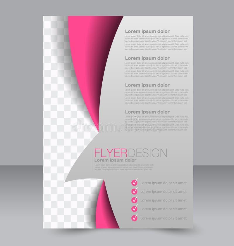 飞行物模板 企业小册子 设计的编辑可能的A4海报 向量例证