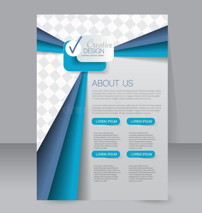 飞行物模板 企业小册子 设计的编辑可能的A4海报 皇族释放例证