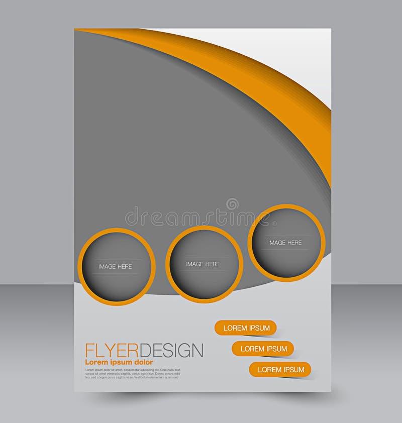 飞行物模板 小册子设计 A4企业盖子 向量例证
