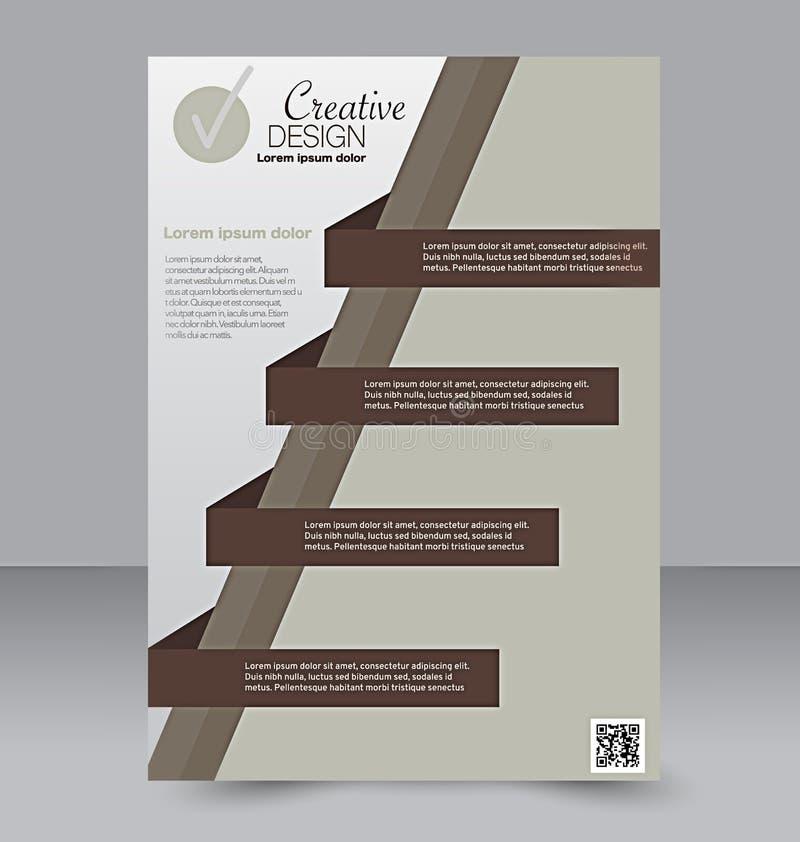 飞行物模板 小册子设计 A4企业盖子 皇族释放例证