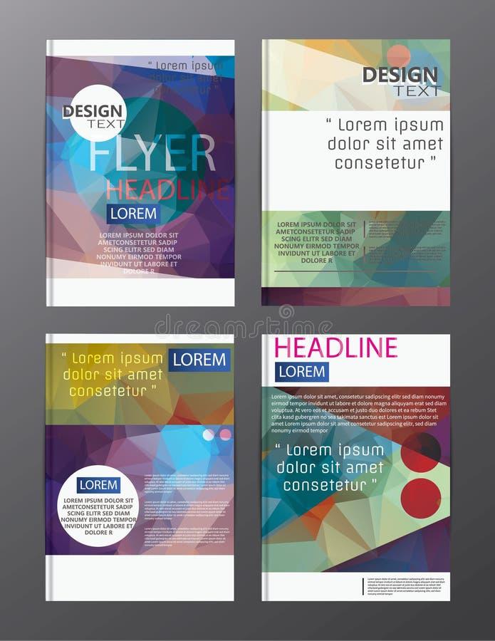 飞行物设计企业年终报告小册子模板 前盖子 向量例证