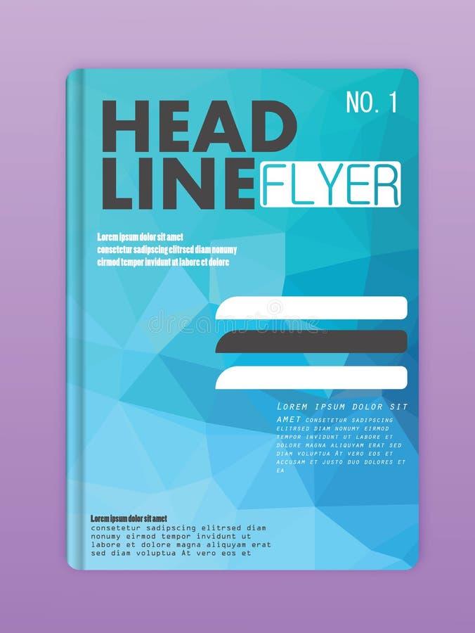 飞行物/海报设计的传染媒介编辑可能的介绍 向量例证