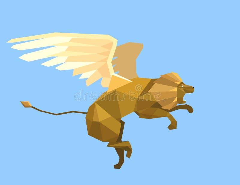 飞行狮子 免版税库存图片