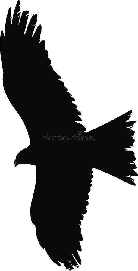 飞行猛禽向量 皇族释放例证