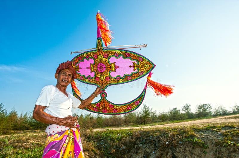 飞行瓦乌比朗-吉兰丹的风筝 库存图片