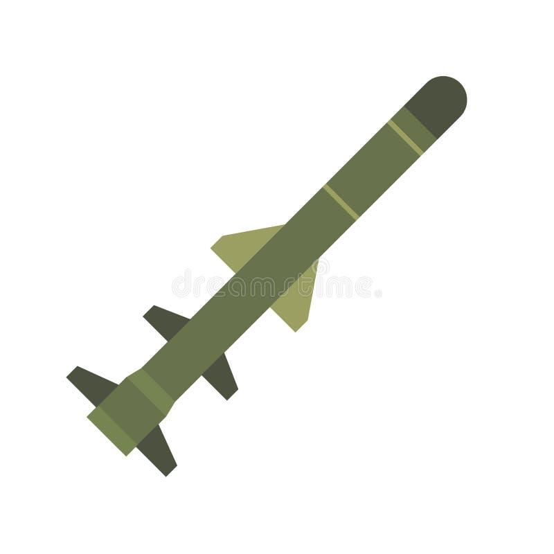 飞行的军用导弹平的象 库存例证