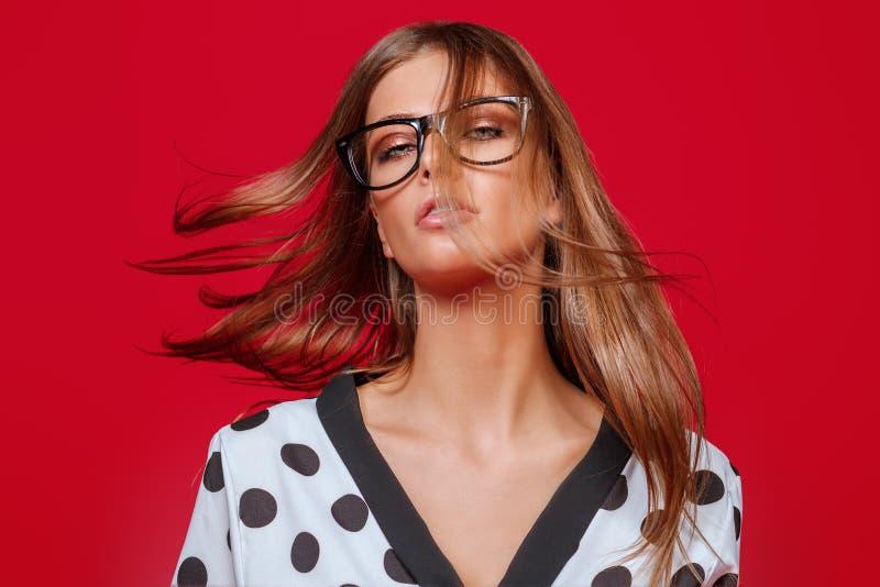 飞行的发光的头发 免版税库存图片