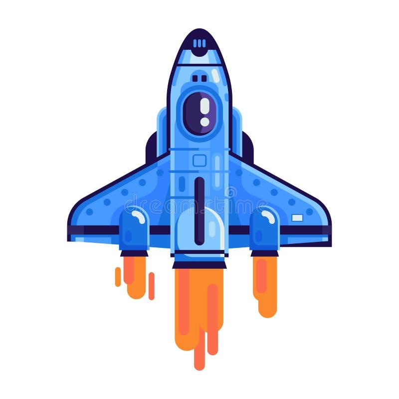 飞行的航天飞机被隔绝的象 皇族释放例证