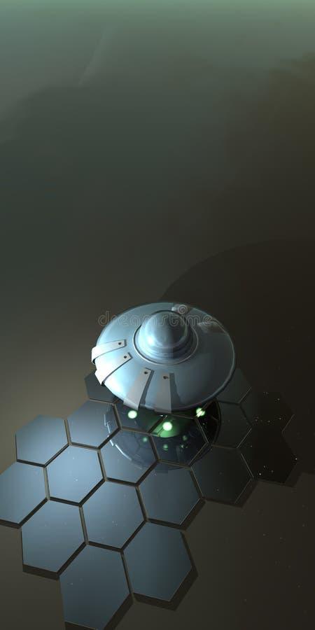 飞行的质朴的茶碟v3 库存图片